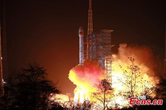 China launches new mobile telecommunication satellite Tiantong 1-03